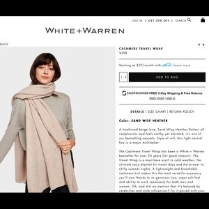 ISO: WHITE + WARREN CASHMERE TRAVEL WRAP